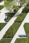 The gardens at Toyota Motor Sales Facility in Torrance, California which is LEED gold certified.